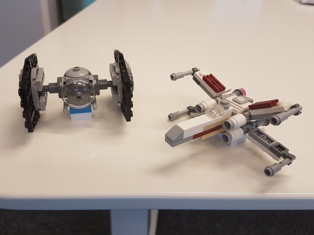 TIE-fighter and X-wing
