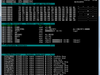 DOSBox Debug screen